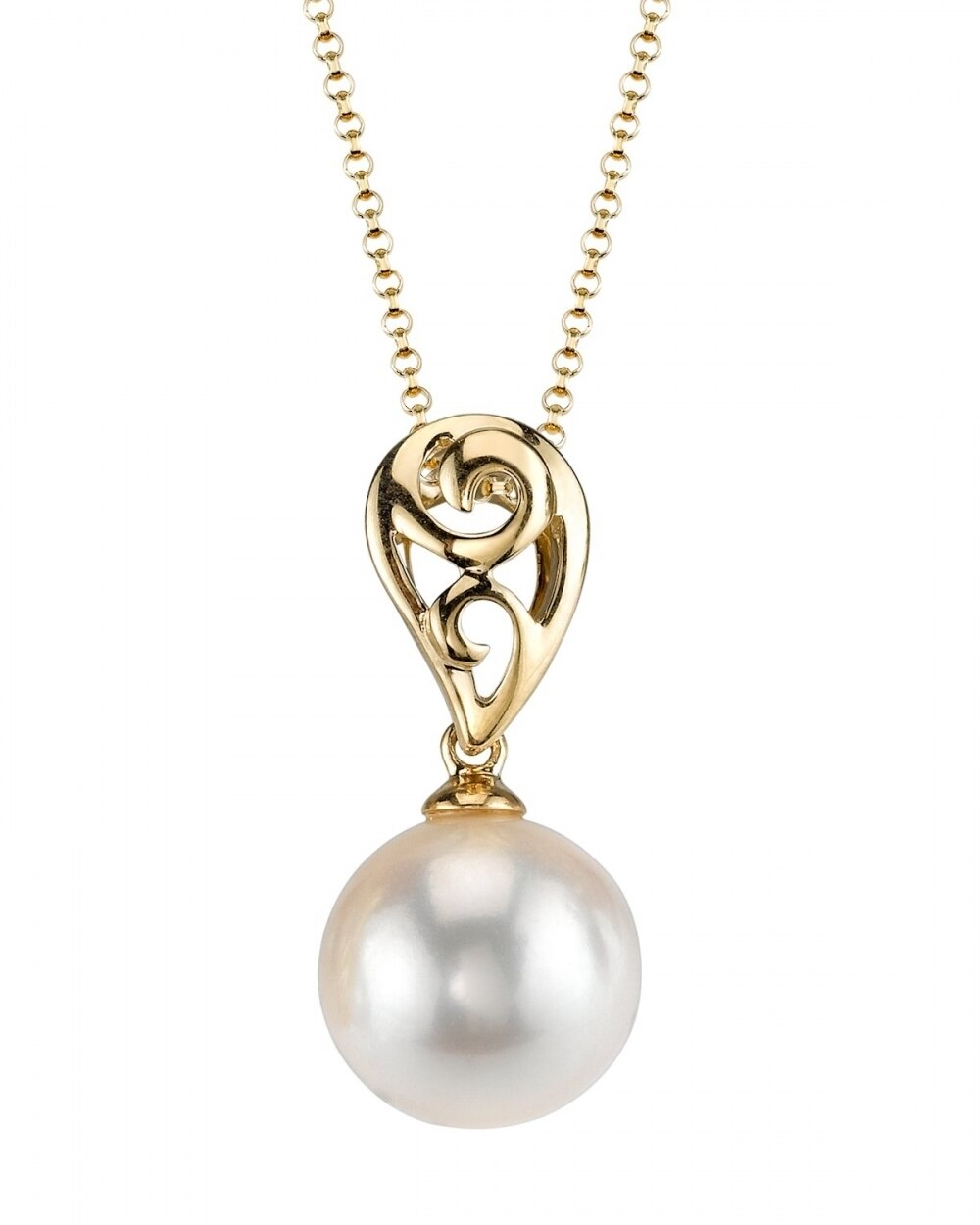 This classic pendant features an 8.5-9.0mm Japanese Akoya Pearl, handpicked for its luminous luster