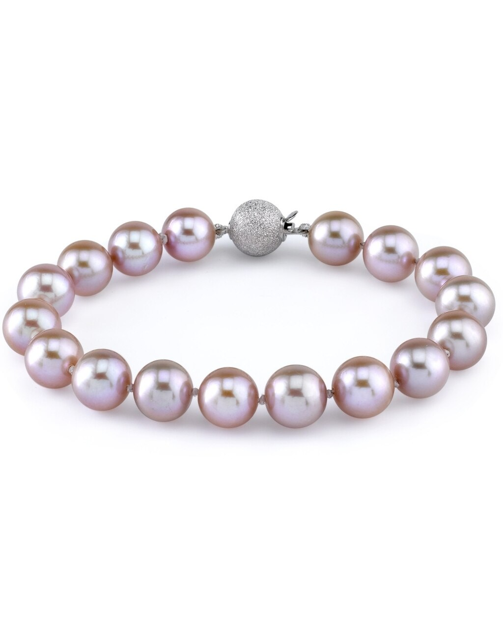 This gorgeous bracelet features 9.0-10.0mm pink Freshwater pearls, handpicked for their luminous luster