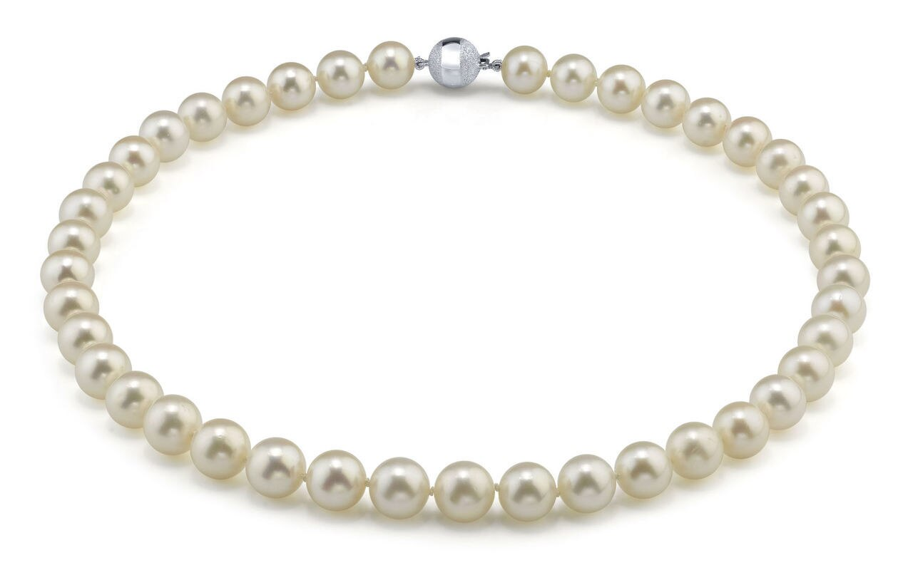 This gorgeous necklace features 10.0-11.0mm white Freshwater pearls, handpicked for their luminous luster