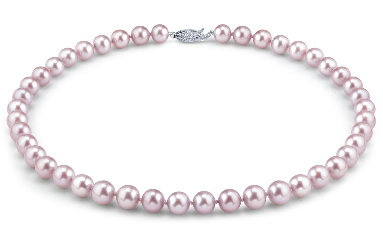 This gorgeous necklace features 11.0-12.0mm pink Freshwater pearls, handpicked for their luminous luster