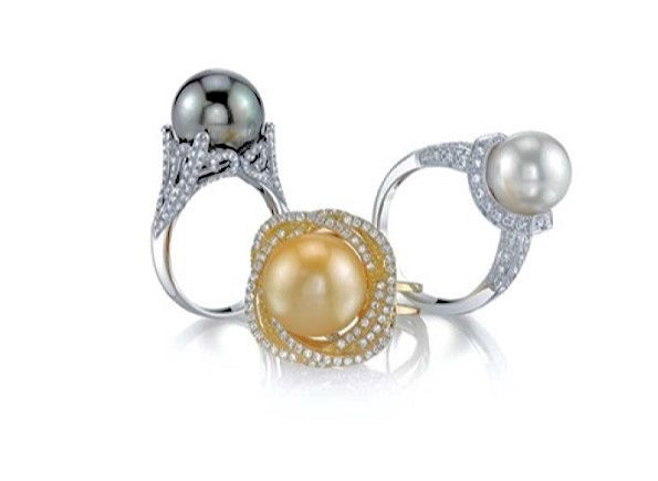 This exquisite ring features an 8.0-9.0mm Gold South Sea pearl, handpicked for its luminous luster