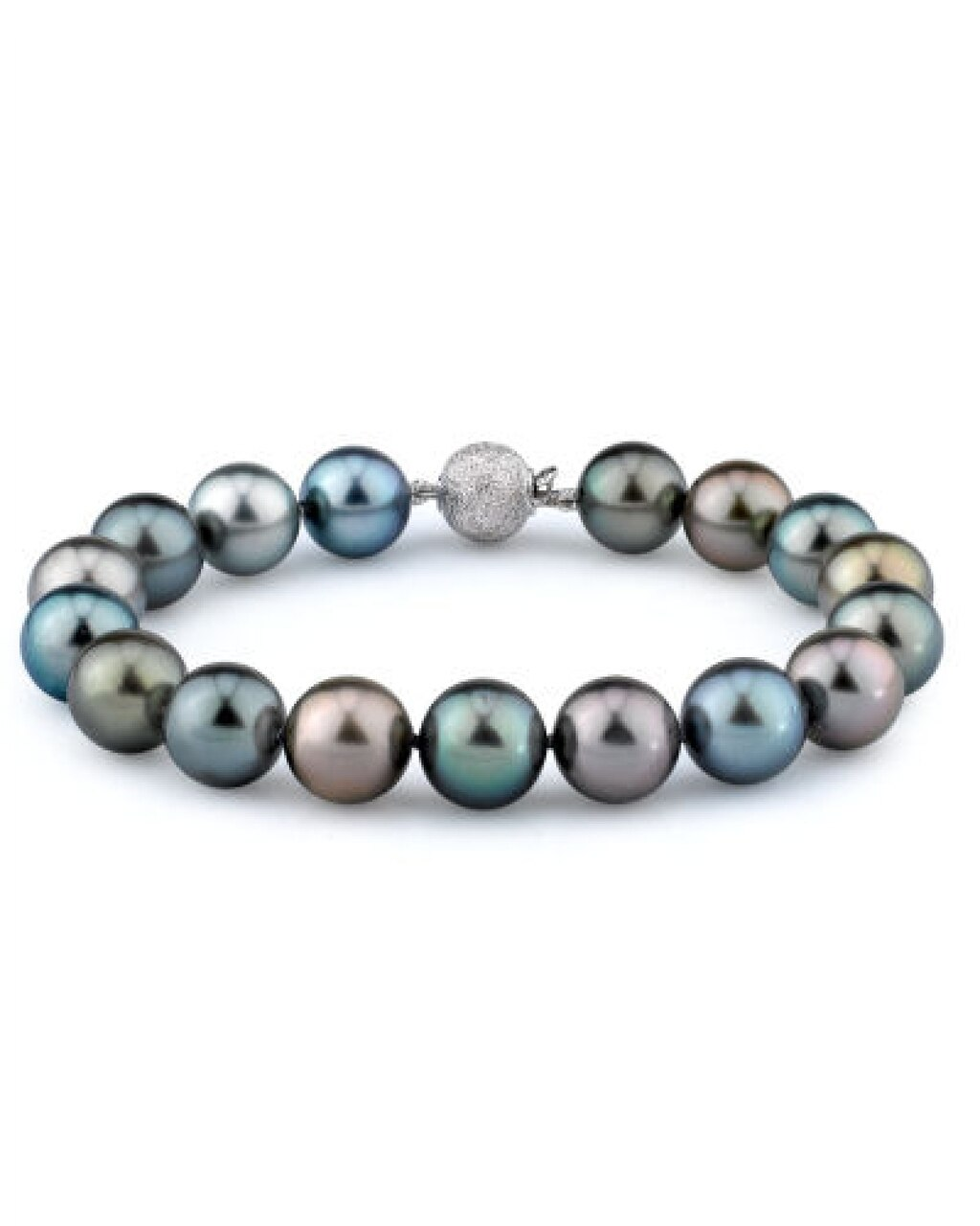 This elegant bracelet features 10.0-11.0mm Tahitian South Sea pearls, handpicked for their luminous luster