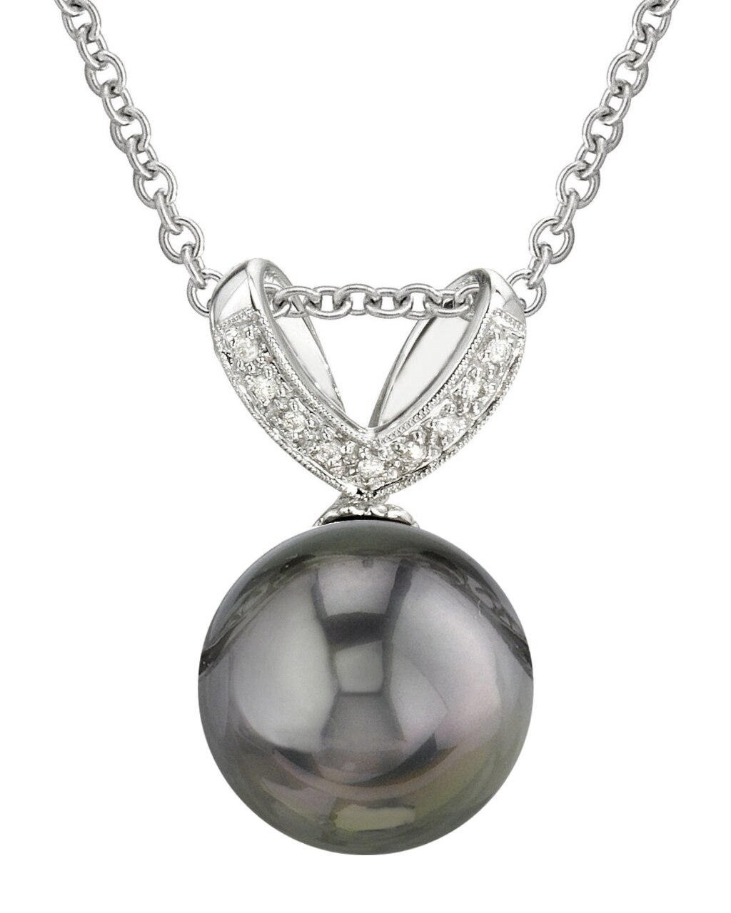 This exquisite pendant features an 11.0-12.0mm Tahitian South Sea Pearl, handpicked for its luminous luster
