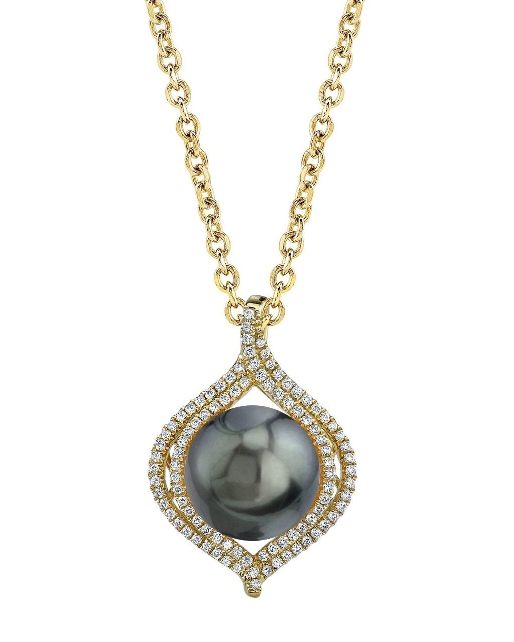 This exquisite pendant features an 12.0-13.0mm Tahitian South Sea Pearl, handpicked for its luminous luster