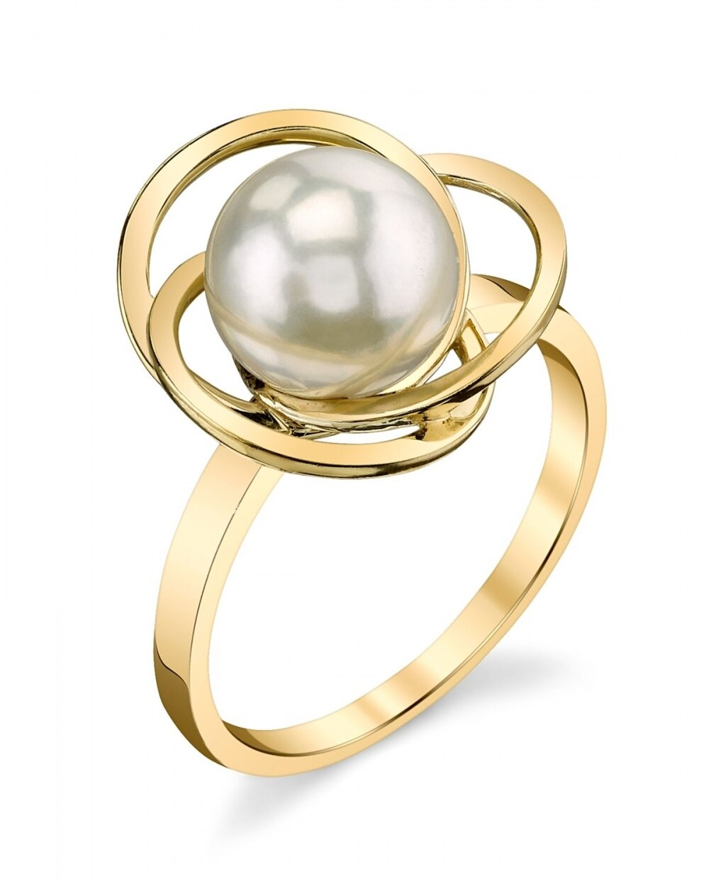 This exquisite ring features an 9.0-1.0mm White South Sea pearl, handpicked for its luminous luster