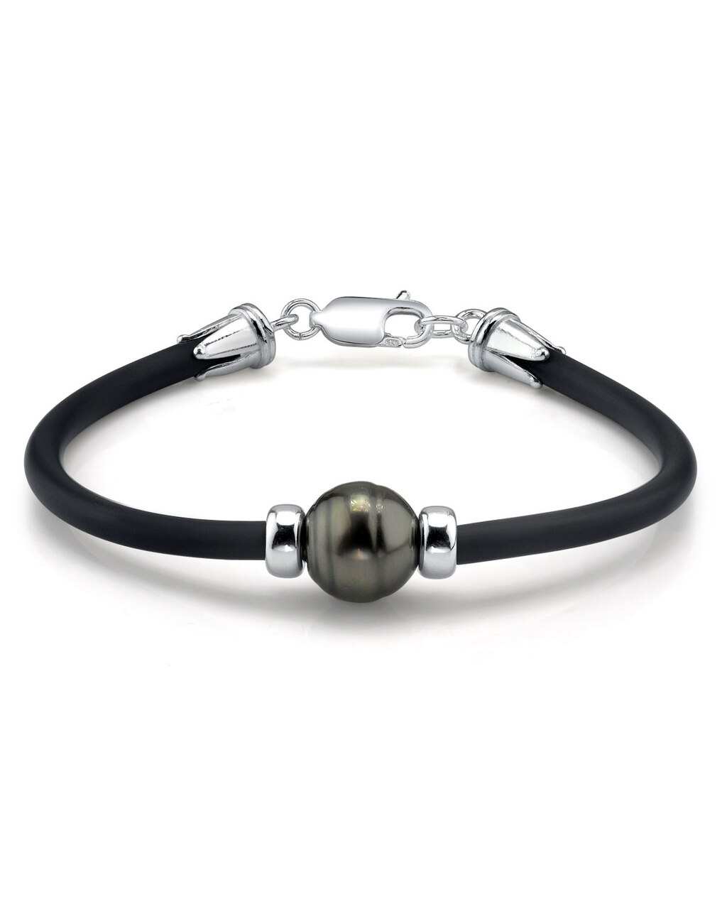 This beautiful bracelet features a baroque shaped Tahitian South Sea pearl