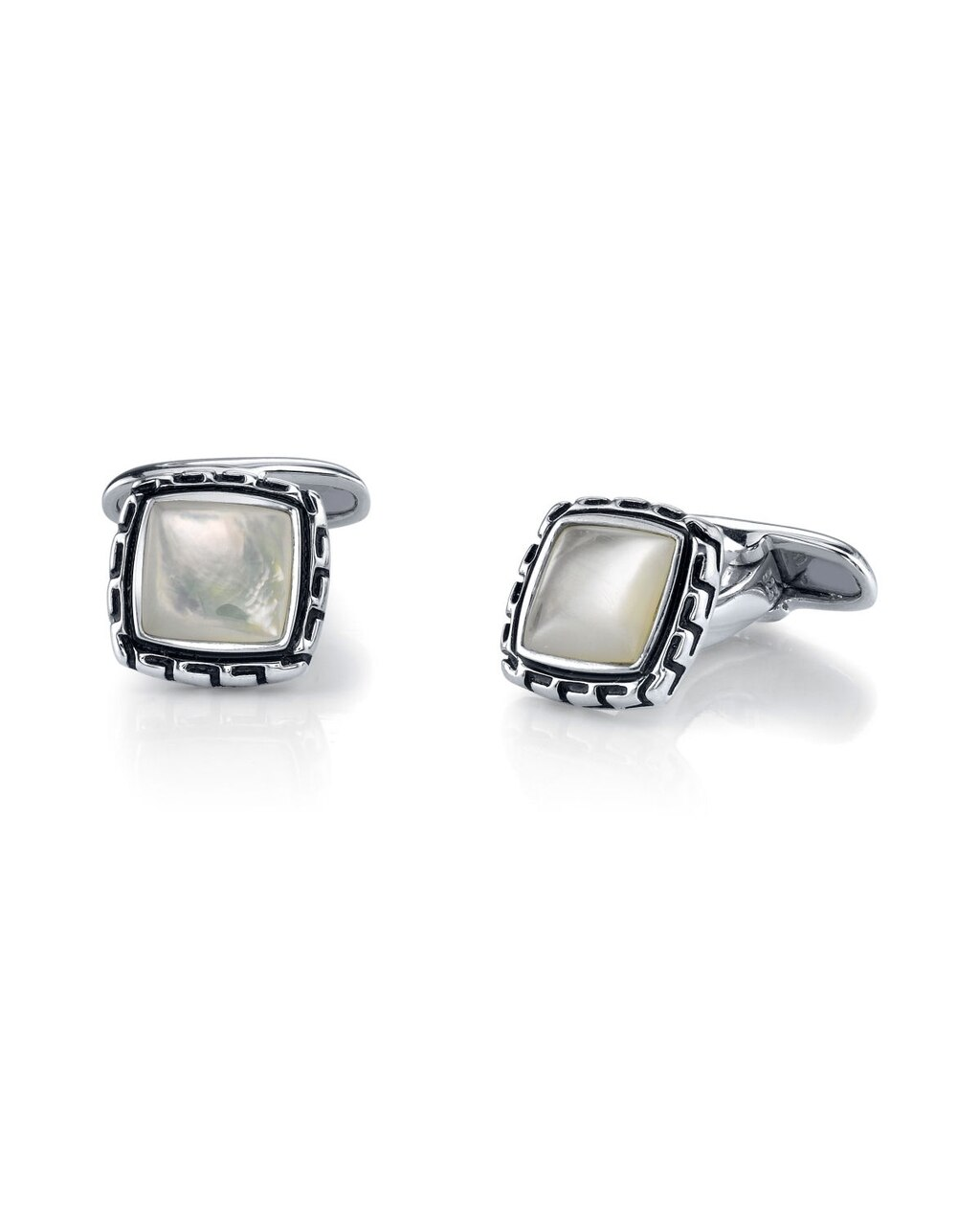 These stunning cufflinks feature beautiful mother of pearl