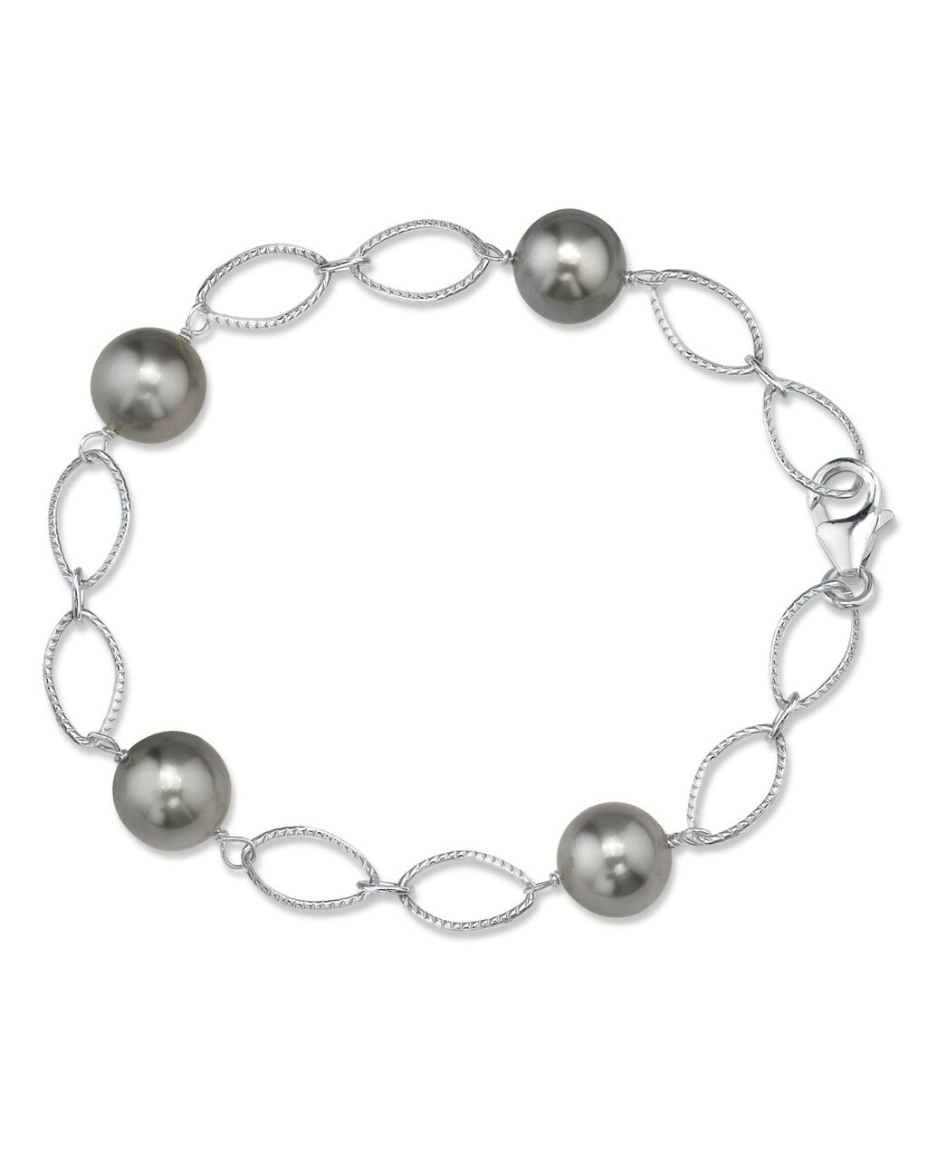 This exquisite bracelet features 9.0-10.0mm Tahitian South Sea pearls, handpicked for their radiant luster