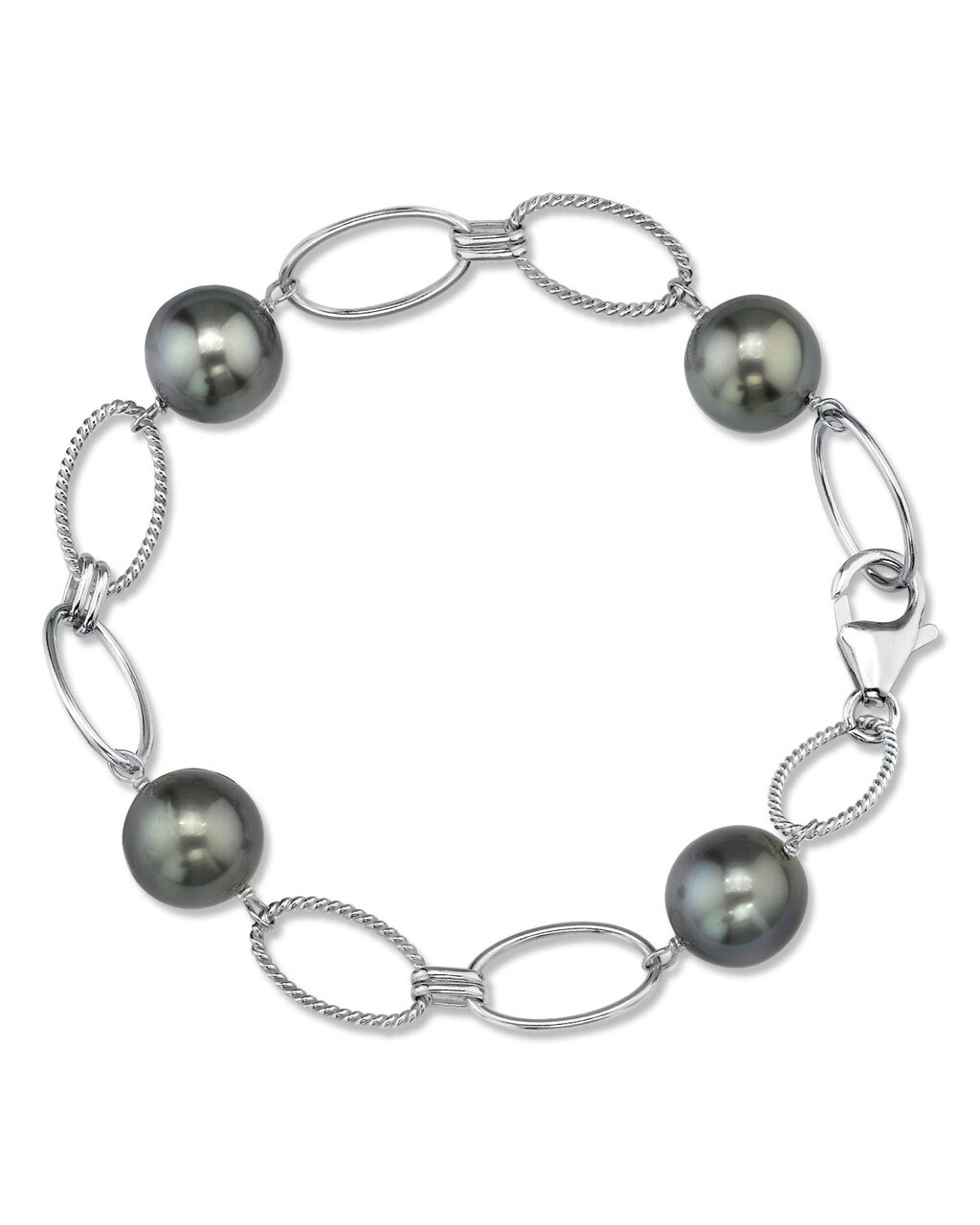 This exquisite bracelet features 10.0-11.0mm Tahitian South Sea pearls, handpicked for their radiant luster