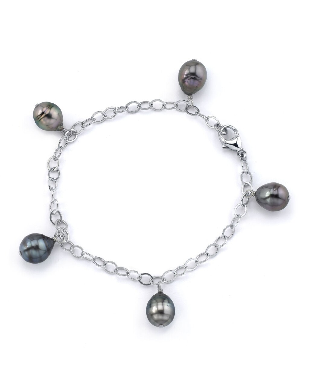 This exquisite bracelet features 8.0-9.0mm Tahitian South Sea pearls, handpicked for their radiant luster
