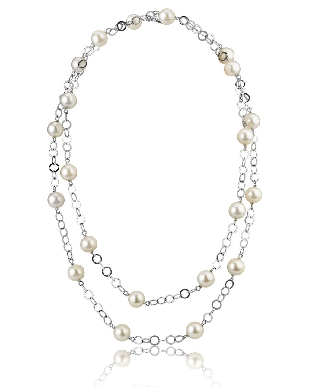 This exquisite necklace features 9.0-10.0mm Freshwater pearls, handpicked for their radiant luster